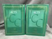 International Critical Commentary Acts Barrett Epistle Biblical Theology Sys Icc