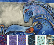 Clothworks Laurel Burch - Embracing Horses Panel Or By The Half Yard