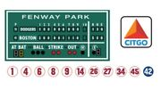 Green Monster Boston Sign 18x18 Citgo Sign 11 Retired Numbers 6x6