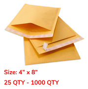 4x8 000 Yellow Kraft Bubble Self Seal Mailers Padded Shipping Envelopes Bags