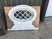 Rare C1900 Oval Window Frame Sash W Casing Mission Tudor Style 24/14andrdquo Window