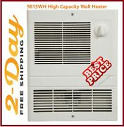 Broan-nutone Grille Heater Built-in Adjustable Thermostat 1500w 120/240v White