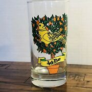 Replacement Glass Tumbler Twelve Days Of Christmas 4th Day 12 Oz Colly Birds