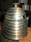 William Adams Silver Plate Honey Pot Bumble Bee Beehive Made England