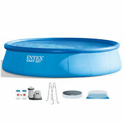 Intex 28175eh 18and039 X 48 Inflatable Round Outdoor Above Ground Swimming Pool Set
