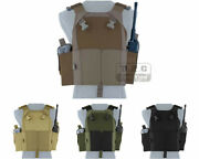 Emerson Lv-mbav Tactical Ajustable Vest Plate Carrier Body Armor W/ Mag Pouches