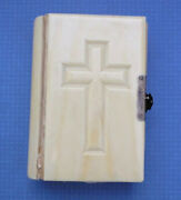 Antique French Missal Catholic Bible Book Unique Old Rouen 1868 Clasped Embossed