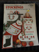 Victorian Christmas Stockings Cross Stitch Leaflet By Leisure Arts