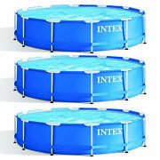 Intex 12 Foot X 30 Inch Above Ground Swimming Pool Pump Not Included 3 Pack