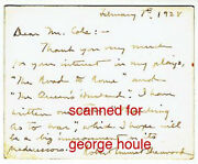 Robert E. Sherwood - Letter - Signed - Abe Lincoln - Pulitzer - Aa
