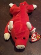 1995 Ty Beanie Baby Snort The Bull Pvc Waterlooville With Errors No Stamp