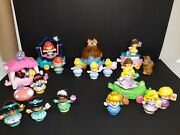Lot Of 23 Fisher Price Little Peopledisney Princess Animals And Floats.