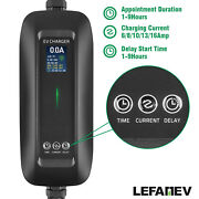 Portable Ev Charger Electric Vehicle Charging Cable 6a-16amp Type 2 Schuko Time