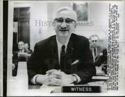 1961 Press Photo Dr.albert Sabin At The Hearing Of House Health Subcommittee