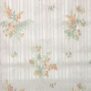 1940s Vintage Wallpaper Floral Wallpaper With Orange Yellow Flowers On White