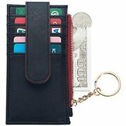 Pufer Women Wallet With Keychain Credit Card Holder Id Window Zip Slim Mini At