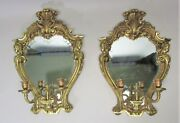Large 18 Pair Of English Gilt Bronze Two-light Wall Sconces  Of Wales