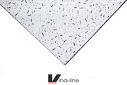 White Acoustic Fresco Style Office Suspended Ceiling Tile 1195x595mm 10 In A Box