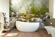 3d Forest Horse Creek Zhua2432 Wallpaper Wall Murals Removable Self-adhesive Amy