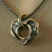 Silpada N1911 Sterling Silver Oxidized Cutout Heart Necklace 925