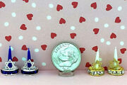Dollhouse Miniature Candles-made With Crystal Bases W/star Of David 112 Choice