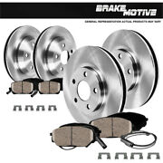 Front+rear Brake Rotors And Ceramic Pads For Mercedes Benz Gl350 Gl450 Ml320 Ml350