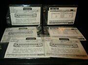Lot 6 New Sets Walthers Decals Passenger And Box Cars 97600 And97-10 Ho Scale