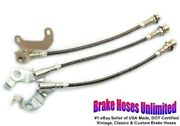 Stainless Brake Hose Set Ford Galaxie 500 1967 Late - Front Disc