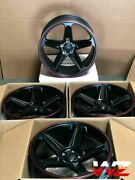 20x9.5 20x10.5 Flow Forged Black Demon Style Wheels Fit Rwd Charger Challenger