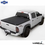 Lund Genesis Elite Tri-fold Tonneau Cover For 2005-2015 Toyota Tacoma- 5ft Bed