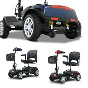 Outdoor Power Mobility Scooter 4 Wheels Travel Compact Scooter W/swivel Seat