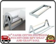 18 Paper Cutter Dispenser For Butcher Gift Wrap And Kraft Roll Paper
