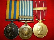 Korea / Canadian Forces Decoration Group Of 3 Medals To A Major Dental Corps