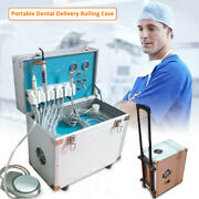 Portable Dental 4 Holes Ultrasonic Scaler Delivery System W/led Curing Light New