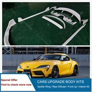 Body Kit Sets Spoiler Wing Diffuser Front Lip Sideskirt Fit Supra A90