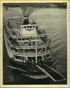 1978 Press Photo The Delta Queen Sternwheeler Prepares For Loading On The River