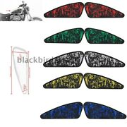 2pcs Skull Fuel Gas Tank Stickers Motorcycle 3d Decals For Harley Xl883 1200
