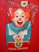 Vintage 1960's Tv's Bozo The Clown Hand Puppet Knickerbocker Mip Old Store Stock