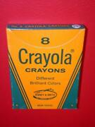 Vintage 1960and039s 19 Cent Box 8 Crayola Crayons Boxed Old Store Stock Mib Mint Nos