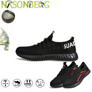 Menand039s Work Safety Shoes Steel Toe Bulletproof Boots Indestructible Sneakers