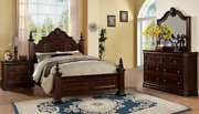 New 4-post Queen/king 4pc Bedroom Set Bed/d/m/n Traditional Furniture