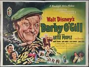 Darby O'gill And The Little People Original Quad Movie Poster First Release Disney
