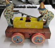 Collectorand039s Toy Hoky Poky Windup By Wyandotte Toys Two Clowns On Hand Car