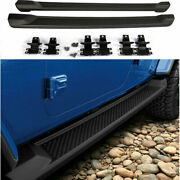 Fit For Jeep Wrangler Jl 4dr 2018-2020 Steel Outer Side Pedal Step Board 2pcs