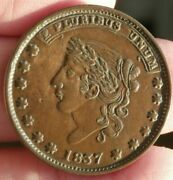 Hard Times Token Ht-51 Liberty Not One Cent Nice Ef T-108