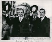 1954 Press Photo Gov. Robert B.meyner Of New Jersey And Gov. Alfred E.driscoll