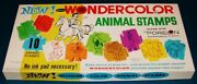 Vintage 1960s Wondercolor Animal Stamps Whitman Ink Toy Old Store Stock Mib Mint