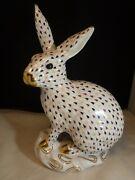 Herend Large Rabbit - Mosaic Fishnet - Bunny Collection New Color Trunk Show