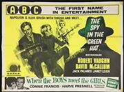 Spy In The Green Hat Original Quad Movie Poster Man From Uncle Robert Vaughan