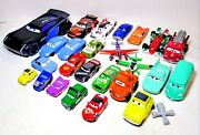 Lot Of 25 Disney Cars And Planes Diecast And Plastic Various Sizes And Characters E3